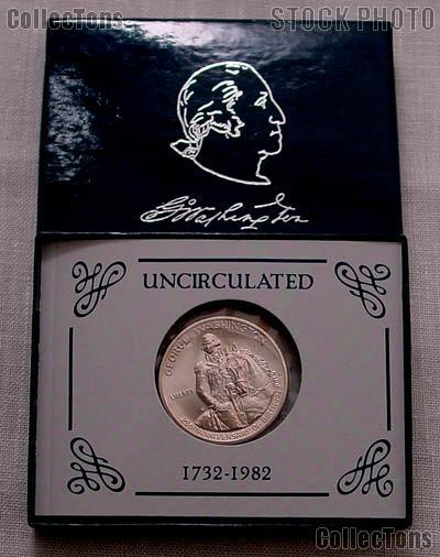 1982-D George Washington 250th Anniversary of Birth Commemorative Uncirculated Silver Half Dollar