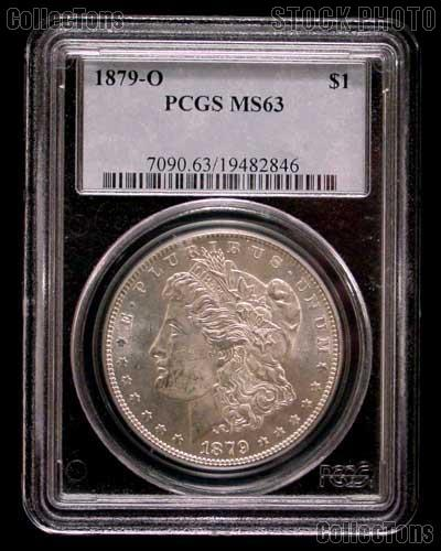1879-O Morgan Silver Dollar in PCGS MS 63