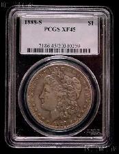 1888-S Morgan Silver Dollar in PCGS XF 45