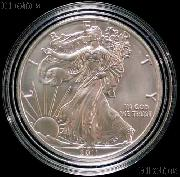 2011-S American Silver Eagle BURNISHED from 25th Anniversary Set in Capsule