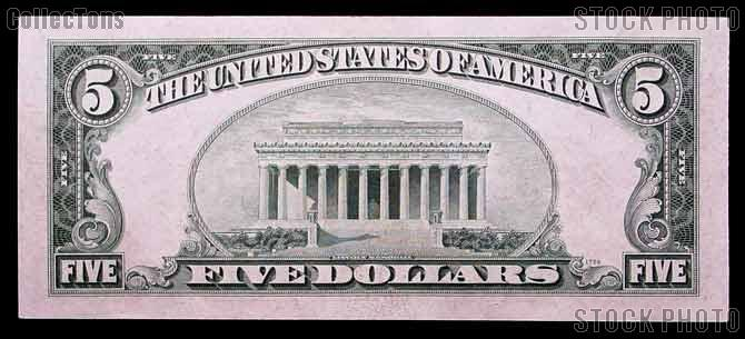 Five Dollar Bill Green Seal FRN Series 1934 US Currency Good or Better