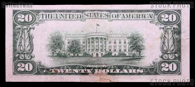 Twenty Dollar Bill Green Seal FRN Series 1934 US Currency
