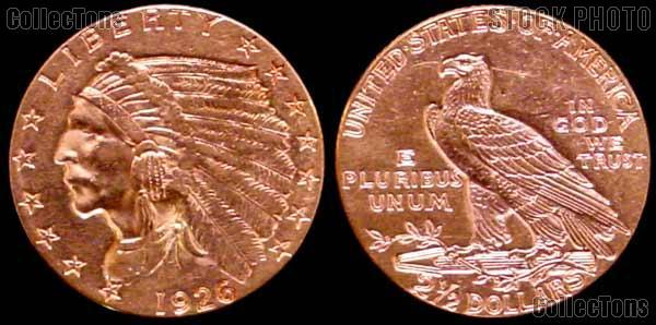 $2.50 GOLD Indian Head Quarter Eagles in XF to AU Condition