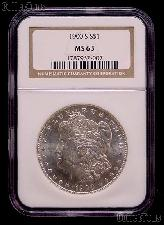 1900-S Morgan Silver Dollar in NGC MS 63