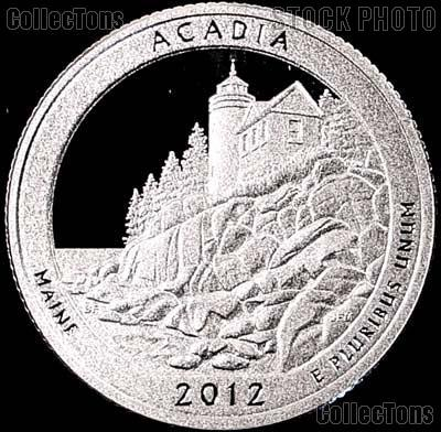 2012-S Maine Acadia National Park Quarter GEM SILVER PROOF America the Beautiful
