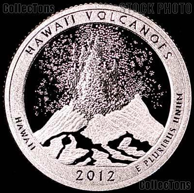 2012-S Hawaii Volcanoes National Park Quarter GEM SILVER PROOF America the Beautiful