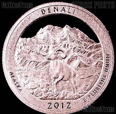 2012-S Alaska Denali National Park Quarter GEM SILVER PROOF America the Beautiful