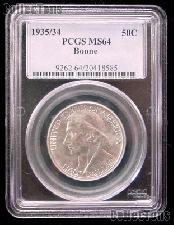 "1935/34 Daniel Boone ""Small 1934"" Variety Bicentennial Silver Commemorative Half Dollar in PCGS MS 64"