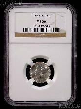1945-D Mercury Silver Dime in NGC MS 66