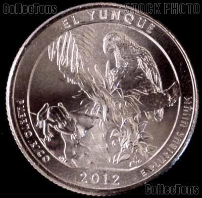 2012-D Puerto Rico El Yunque National Park Quarter GEM BU America the Beautiful