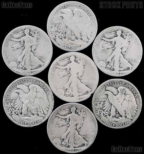 1921 Walking Liberty Silver Half Dollar - Key Date Filler