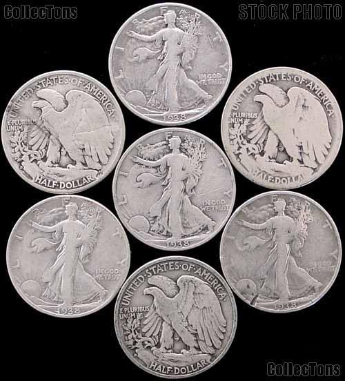 1938-D Walking Liberty Silver Half Dollar - Key Date Filler