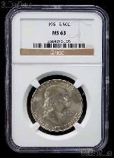 1951-S Franklin Silver Half Dollar in NGC MS 63