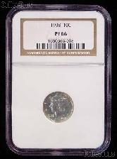 1938 Mercury Silver PROOF Dime in NGC PF 66