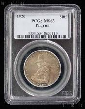 1920 Pilgrims Landing at Plymouth Tercentenary Silver Commemorative Half Dollar in PCGS MS 63