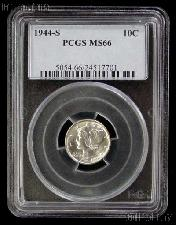 1944-S Mercury Silver Dime in PCGS MS 66