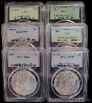 Morgan Silver Dollar 1878-1904 in PCGS MS 65 Mixed Dates and Mint Marks