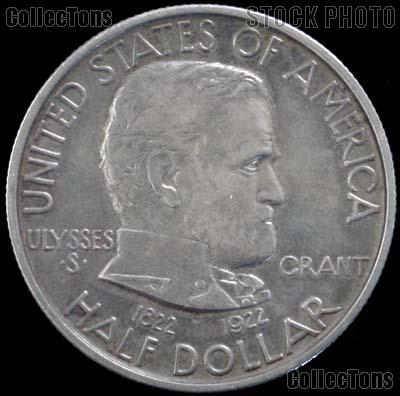 Grant Memorial Silver Commemorative Half Dollar (1922) in XF+ Condition