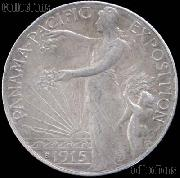 Panama-Pacific Exposition Silver Commemorative Half Dollar (1915) in XF+ Condition