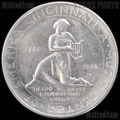 Cincinnati Music Center 50th Anniversary Silver Commemorative Half Dollar (1936) in XF+ Condition