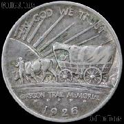 Oregon Trail Memorial Silver Commemorative Half Dollar (1926-1939) in XF+ Condition
