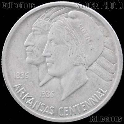 Arkansas Centennial Silver Commemorative Half Dollar (1935-1939) in XF+ Condition