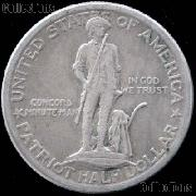 Lexington-Concord Sesquicentennial Silver Commemorative Half Dollar (1925) in XF+ Condition