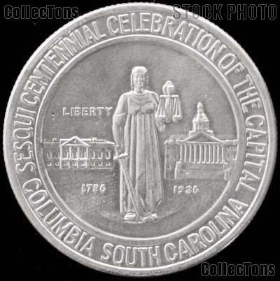 Columbia South Carolina Sesquicentennial Silver Commemorative Half Dollar (1936) in XF+ Condition