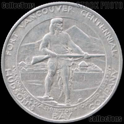 Fort Vancouver Centennial Silver Commemorative Half Dollar (1925) in XF+ Condition