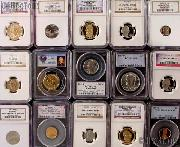 Mixed Modern PCGS and NGC Certified Slab Coins