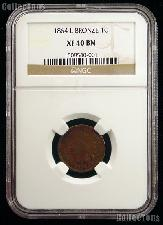 1864 with L Indian Head Cent in NGC XF 40 BN (Brown)