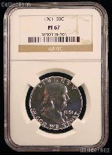 1961 Franklin Proof Silver Half Dollar in NGC PF 67