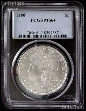 1880 Morgan Silver Dollar in PCGS MS 64