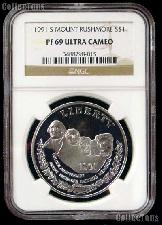 1991-S Mount Rushmore Commemorative Proof Silver Dollar in NGC PF 69 Ultra Cameo