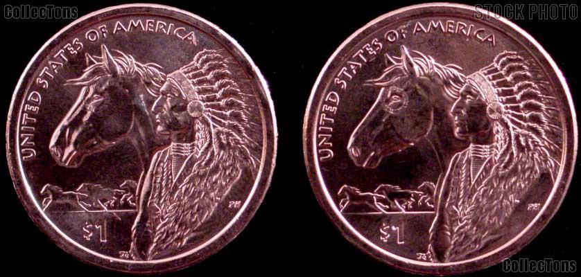 2012 P & D Native American Dollars BU 2012 Sacagawea Dollars SAC