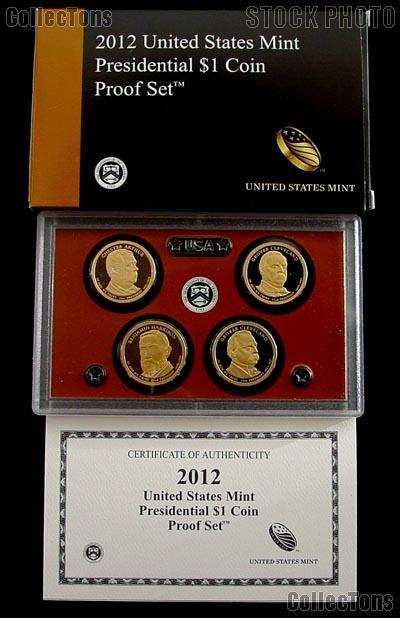 2012 PRESIDENTIAL DOLLAR PROOF SET * 4 Coin U.S. Mint Proof Set