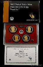 2012 PRESIDENTIAL DOLLAR PROOF SET * 4 Coin U.S. Mint Proof Set