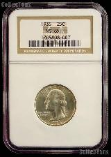 1935 Washington Silver Quarter in NGC MS 65