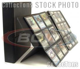 BCW Break Back Display Album for Trading Cards, in Black
