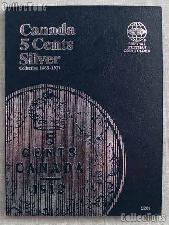 Whitman Canada 5 Cents Folder 1858-1921 #3201