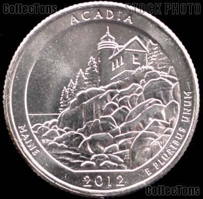 2012-P Maine Acadia National Park Quarter GEM BU America the Beautiful