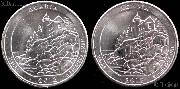 2012 P & D Maine Acadia National Park Quarters GEM BU America the Beautiful
