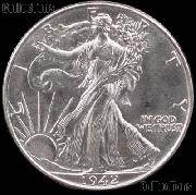 1942-S Walking Liberty Silver Half Dollar * Choice BU 1942 Walker