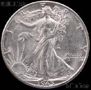 1945-D Walking Liberty Silver Half Dollar * Choice BU 1945 Walker