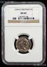 1938-D/S Buffalo Nickel in NGC MS 65