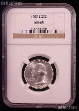 1950-S Washington Silver Quarter in NGC MS 65