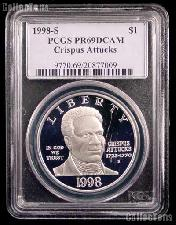 1998-S Black Revolutionary War Patriots Commemorative Silver Dollar in PCGS PR 69 DCAM