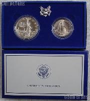 1986 Statue of Liberty Two Coin Commemorative Uncirculated Set