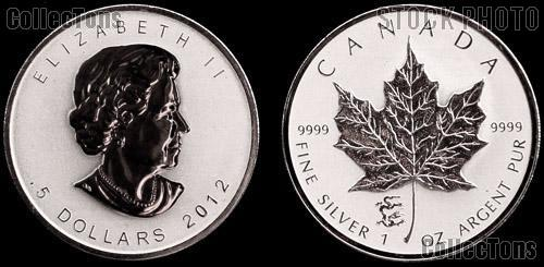 2012 Canada Silver Maple Leaf Privy Marked w/ Chinese Dragon REVERSE PROOF from RCM