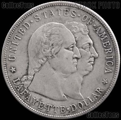 Lafayette Dollar Silver Commemorative Coin (1900) in XF+ Condition